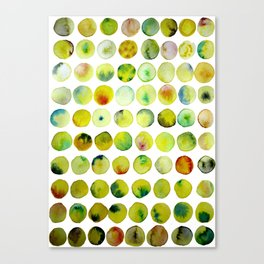 Coloured Yellow Bubble Pattern Canvas Print