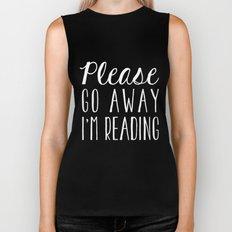Please Go Away, I'm Reading (Polite Version) - Blue Biker Tank