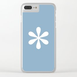 asterisk sign on placid blue color background Clear iPhone Case