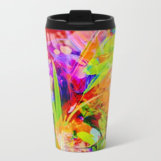 Abstract - Perfektion 91 Metal Travel Mug