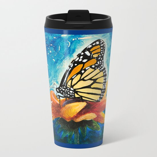 Butterfly - Discreet clarity - by LiliFlore Metal Travel Mug