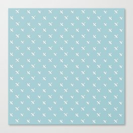 X marks the Dot - Blue Canvas Print