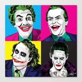 Pop Quad: The Joker Canvas Print