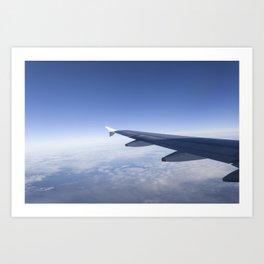 Heavenly Blue Skies Flying Art Print
