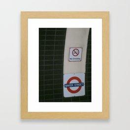 No Smoking Underground. Framed Art Print
