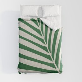 Minimalist Palm Leaf Duvet Cover