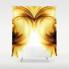 abstract fractals mirrored reacc80c82i Shower Curtain