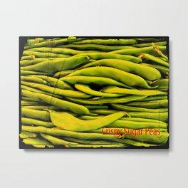 Crispy Sugar Peas Metal Print