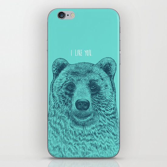 I Like You (Bear) iPhone & iPod Skin
