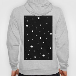 Scattered Stars - white on black Hoody