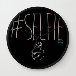 The #SELFIE King [Large Illustration] Wall Clock