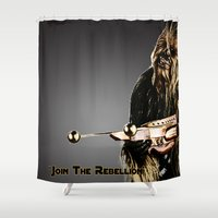 chewbacca Shower Curtains featuring Chewbacca by KL Design Solutions
