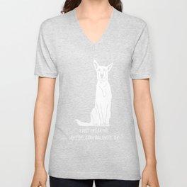 Belgian-Malinois-tshirt,-just-freaking-love-my-Belgian-Malinois Unisex V-Neck
