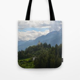A glimpse through the forest Tote Bag