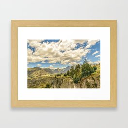 Valley and Andes Range Mountains Latacunga Ecuador Framed Art Print