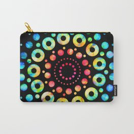 Multi-Color Mandala Tie-Dye Circle Shapes Carry-All Pouch