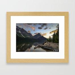 Fortress Lake Sunset Framed Art Print