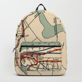 Vintage NYC Subway Map (1918) Backpack