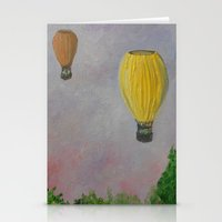 hot air balloon Stationery Cards featuring Hot Air Balloon Adventure by RokinRonda