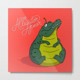 Alligator Pear Metal Print