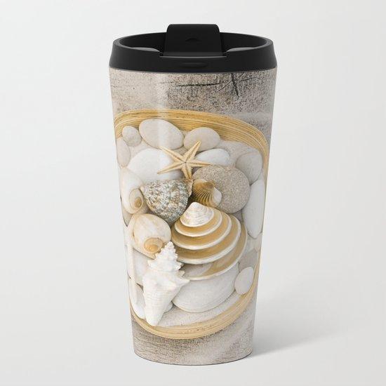 Sea Shell Collection Beach Summer Still Life Metal Travel Mug