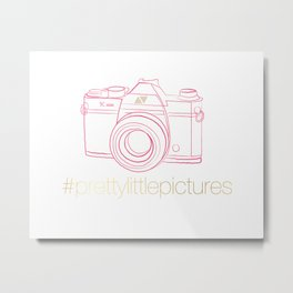 Prettylittlepictures Gold & Pink Metal Print