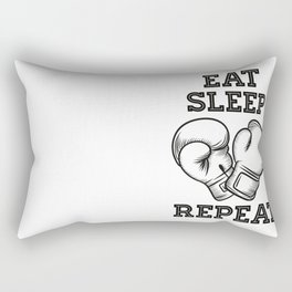 Eat sleep box repeat Rectangular Pillow