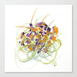 Atom Flowers No15 Canvas Print