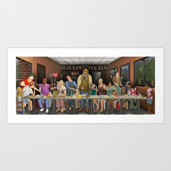 Today's Last Supper Art Print