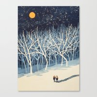 young avengers Canvas Prints featuring If on a Winter's Night Young Lover's... by Paul Sheaffer