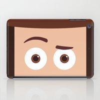 pixar iPad Cases featuring PIXAR CHARACTER POSTER - Sheriff Woody - Toy Story by Marco Calignano