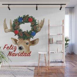 Feliz Navidad Spanish Merry Christmas Wall Mural
