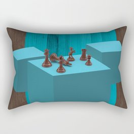 3D Chess Pieces Didital Art Rectangular Pillow