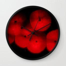 Red Rhodochrosite Stalagmite Gemstone Pattern Wall Clock