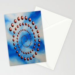 Spiral reincarnation oil painting Stationery Cards