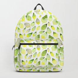 Watercolor leaves (sage) Backpack
