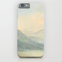 "J.M.W. Turner ""From the Isola Borromena, Lago Maggiore"" iPhone Case"