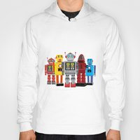 robots Hoodies featuring robots by notbook