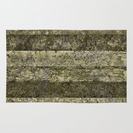 Grunge Stripes Print Rug
