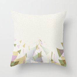 #Retro flying  #triangles Throw Pillow