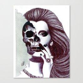Skull Lady.  Canvas Print