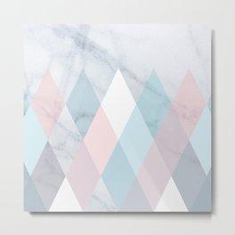 Diamond Peaks on Marble Metal Print