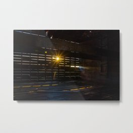 Sunset Through the Slats Metal Print