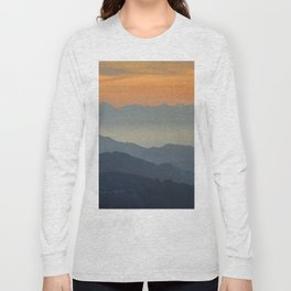 """Sunset at the mountains"". Dreaming... Long Sleeve T-shirt"