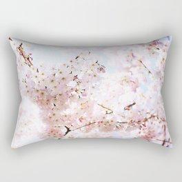 Soft Pink and White #pinkflower Rectangular Pillow