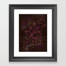 Brown, orange and purple tangle Framed Art Print