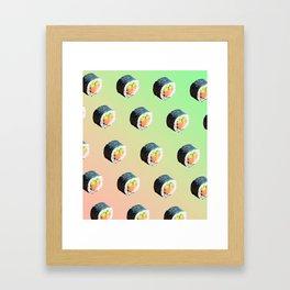 Sushi Rolls Framed Art Print