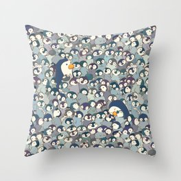 Baby Penguin Pattern Throw Pillow