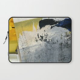 Mellow Yellow Texture Collage Laptop Sleeve