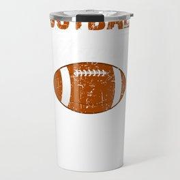 Vintage Football Game Day Gridiron print Travel Mug